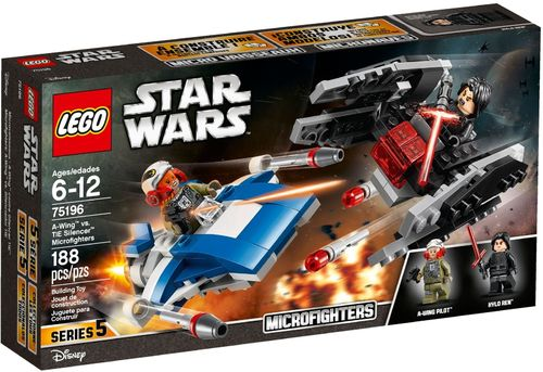 75196 Microfighter A-Wing vs. Silencer TIE (Star Wars) (The Last Jedi) (Microfighters)