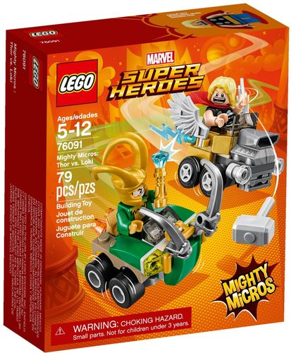 76091 Mighty Micros: Thor contre Loki (Marvel Super Heroes) (Thor)