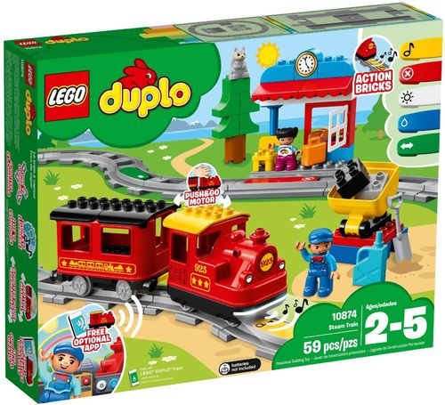 10874 Le train à vapeur (Duplo) (Ma Ville) (Trains)