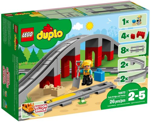 10872 Les rails et le pont du train (Duplo) (Trains)