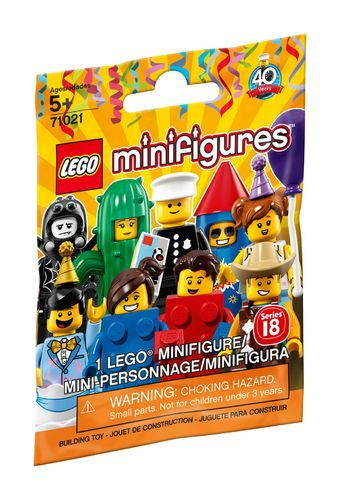 71021 Collectable Minifigure (Série 18) (Minifigurines) (40 Years)