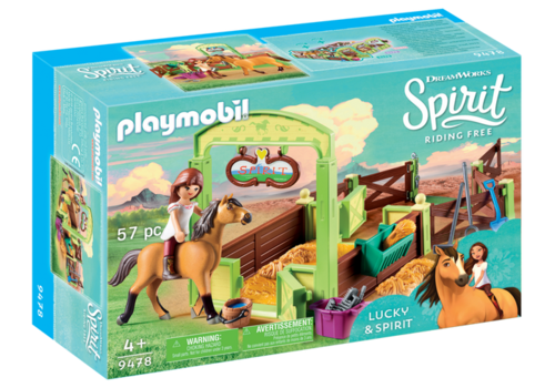 9478 Lucky et Spirit avec box (Spirit Riding Free)