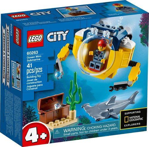 60263 Le mini sous-marin (Mini Submarine) (Juniors) (City) (Deap Sea Explorers)